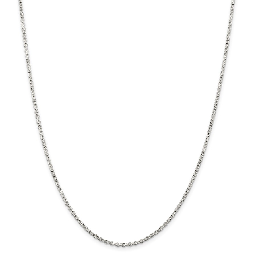 Sterling Silver 2.25 mm Cable Chain - 20 in.