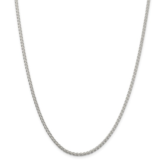 Sterling Silver 2.5 mm Round Spiga Chain - 24 in.
