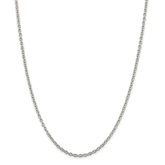 Sterling Silver 2.75 mm Cable Chain - 24 in.