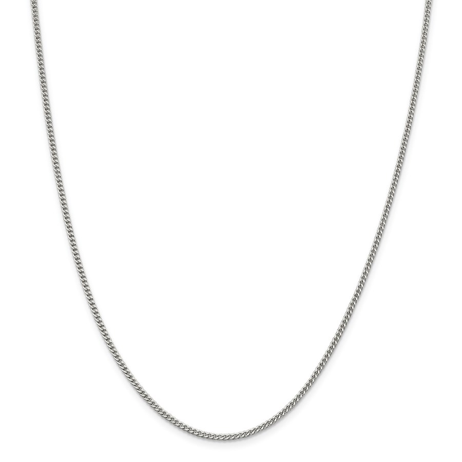 Sterling Silver 2 mm Curb Chain - 20 in.