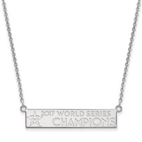 Sterling Silver 2017 World Series Houston Astros Bar Necklace
