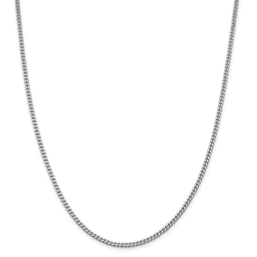Sterling Silver 3 mm Curb Chain - 24 in.