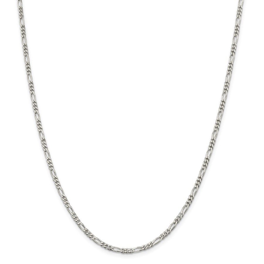 Sterling Silver 3 mm Figaro Chain - 24 in.