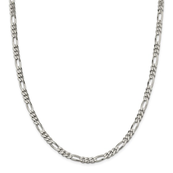 Sterling Silver 5.25 mm Figaro Chain - 20 in.