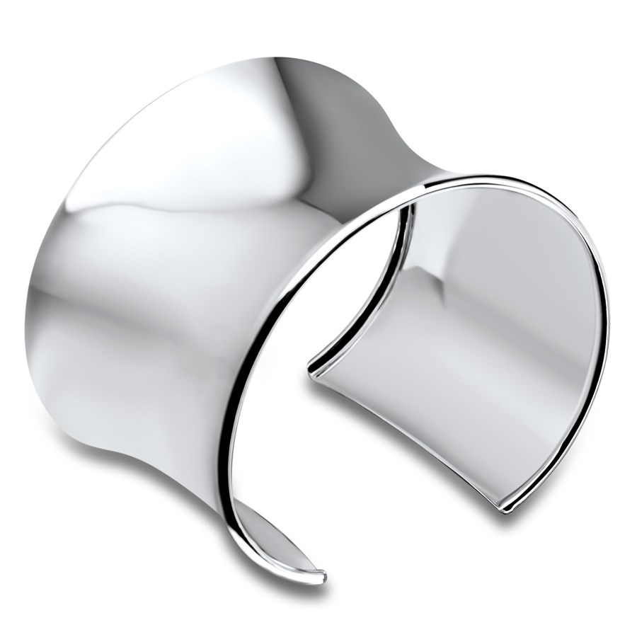Sterling Silver 50 mm Cuff Bangle Bracelet