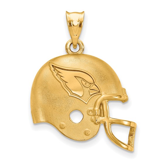 Sterling Silver Arizona Cardinals Football Helmet Pendant