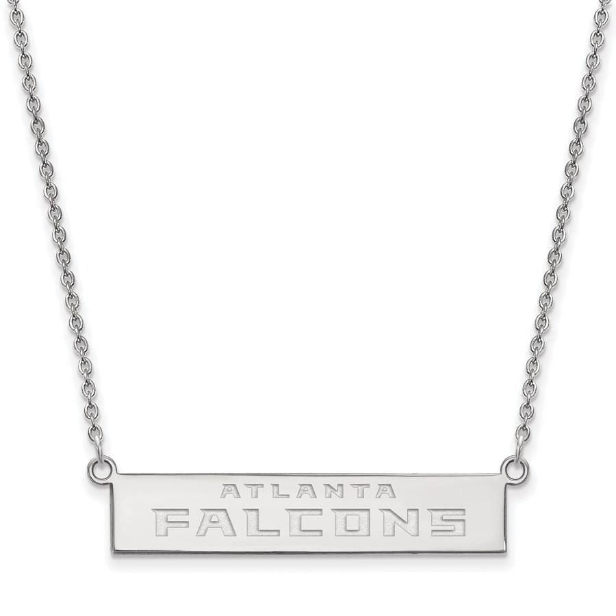 Sterling Silver Atlanta Falcons Small Bar Necklace