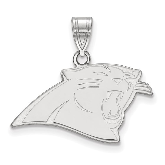 Sterling Silver Carolina Panthers Medium Pendant