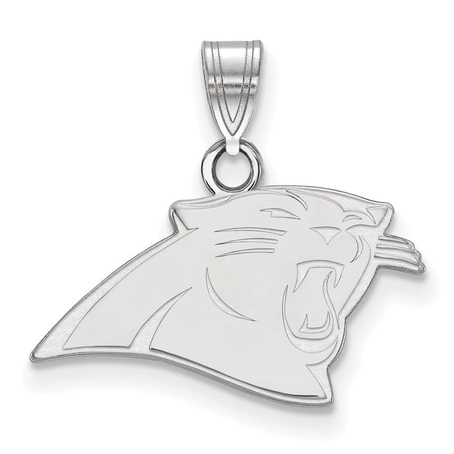 Sterling Silver Carolina Panthers Small Pendant