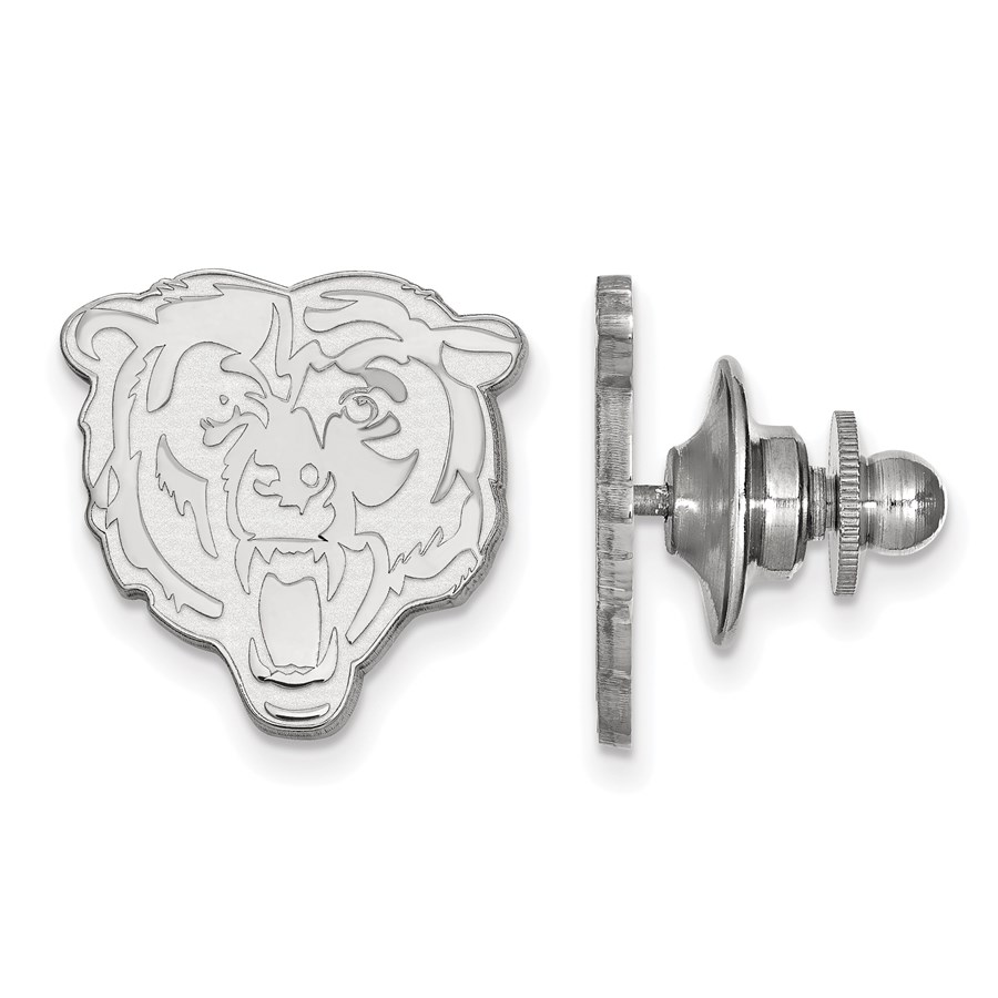 Sterling Silver Chicago Bears Lapel Pin