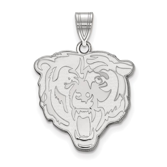 Sterling Silver Chicago Bears Large Pendant