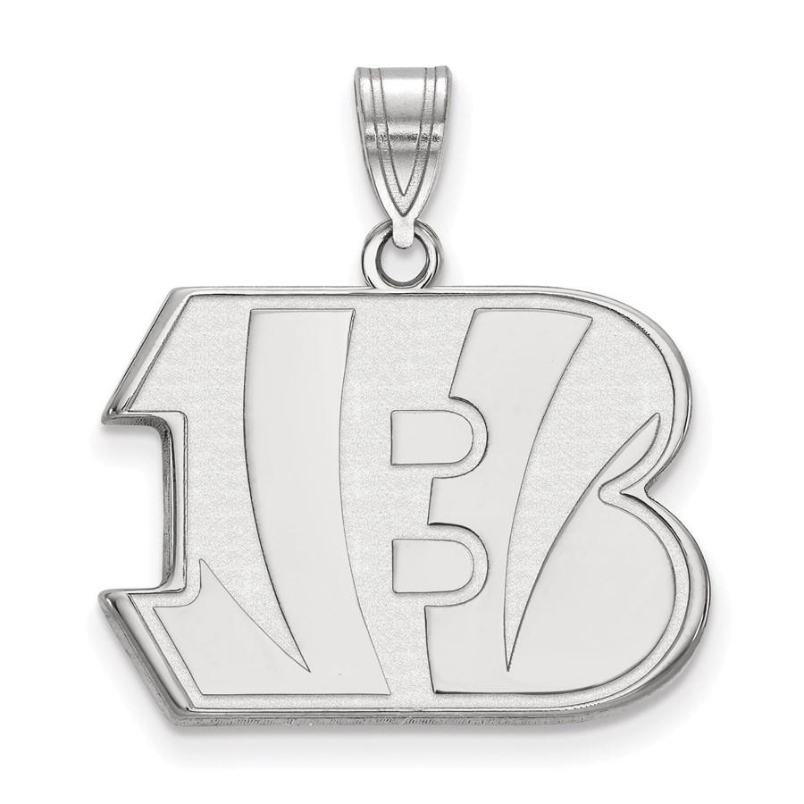 Sterling Silver Cincinnati Bengals Large Pendant