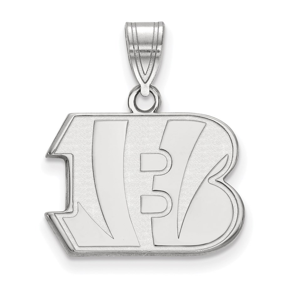 Sterling Silver Cincinnati Bengals Medium Pendant