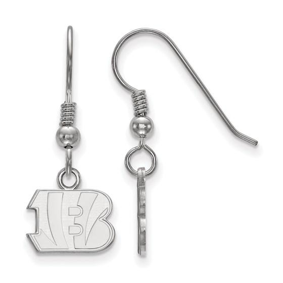 Sterling Silver Cincinnati Bengals XS Dangle Earring Wire