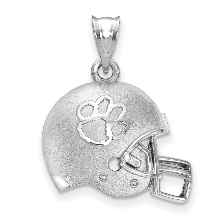 Sterling Silver Clemson University Football Helmet Pendant