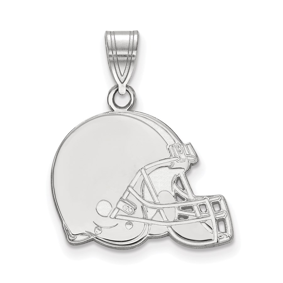 Sterling Silver Cleveland Browns Medium Pendant