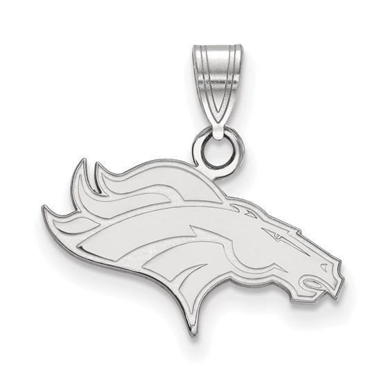 Sterling Silver Denver Broncos Small Pendant
