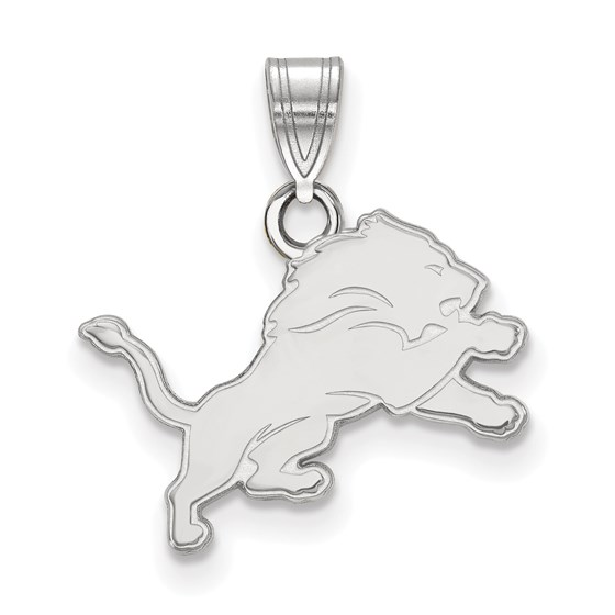 Sterling Silver Detroit Lions Small Pendant