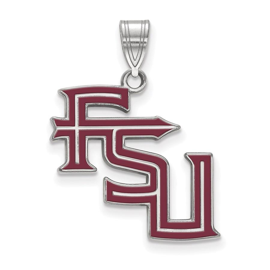 Sterling Silver Florida State University Enamel Pendant