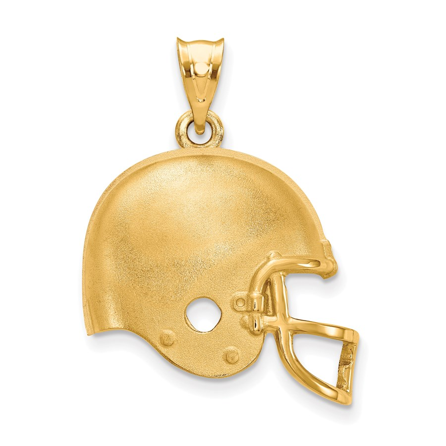 Sterling Silver Gold-plated Cleveland Browns Helmet Pendant