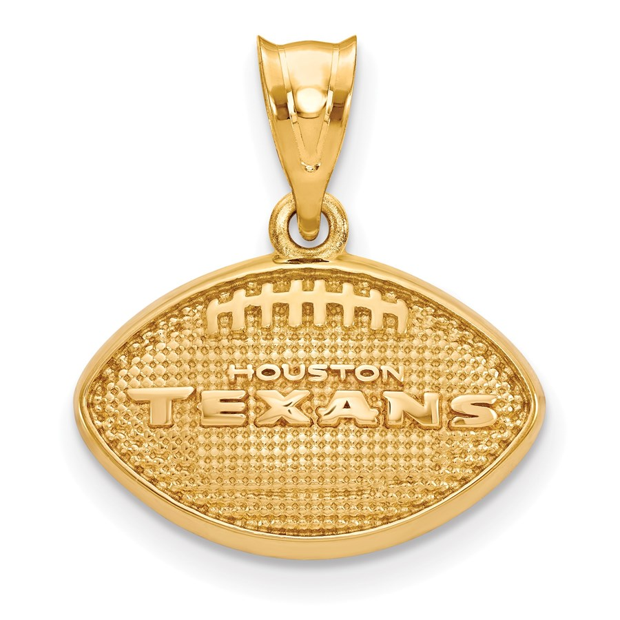 Sterling Silver Gold-plated Houston Texans Pendant