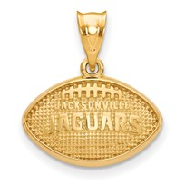 Sterling Silver Gold-plated Jacksonville Jaguars Football Pendant