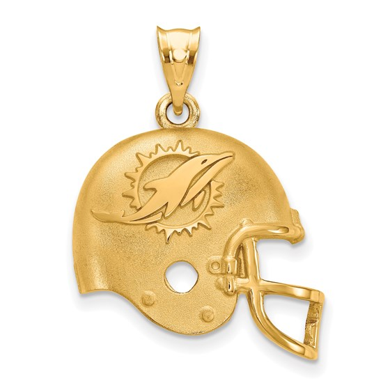 Sterling Silver Gold-plated Miami Dolphins Pendant