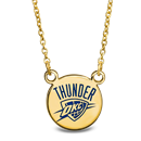 Sterling Silver Gold Plated NBA OKC Thunder Sm Enamel Necklace