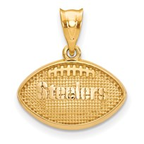 Sterling Silver Gold-plated Pittsburgh Steelers Football Pendant