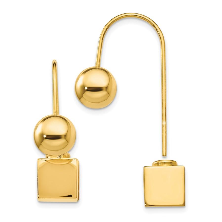 Sterling Silver Gold-tone Dangle Earrings - 26 mm