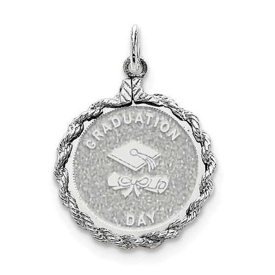 Sterling Silver Graduation Day Disc Charm -3270B