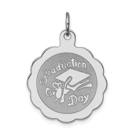 Sterling Silver Graduation Day Disc Charm -3272B