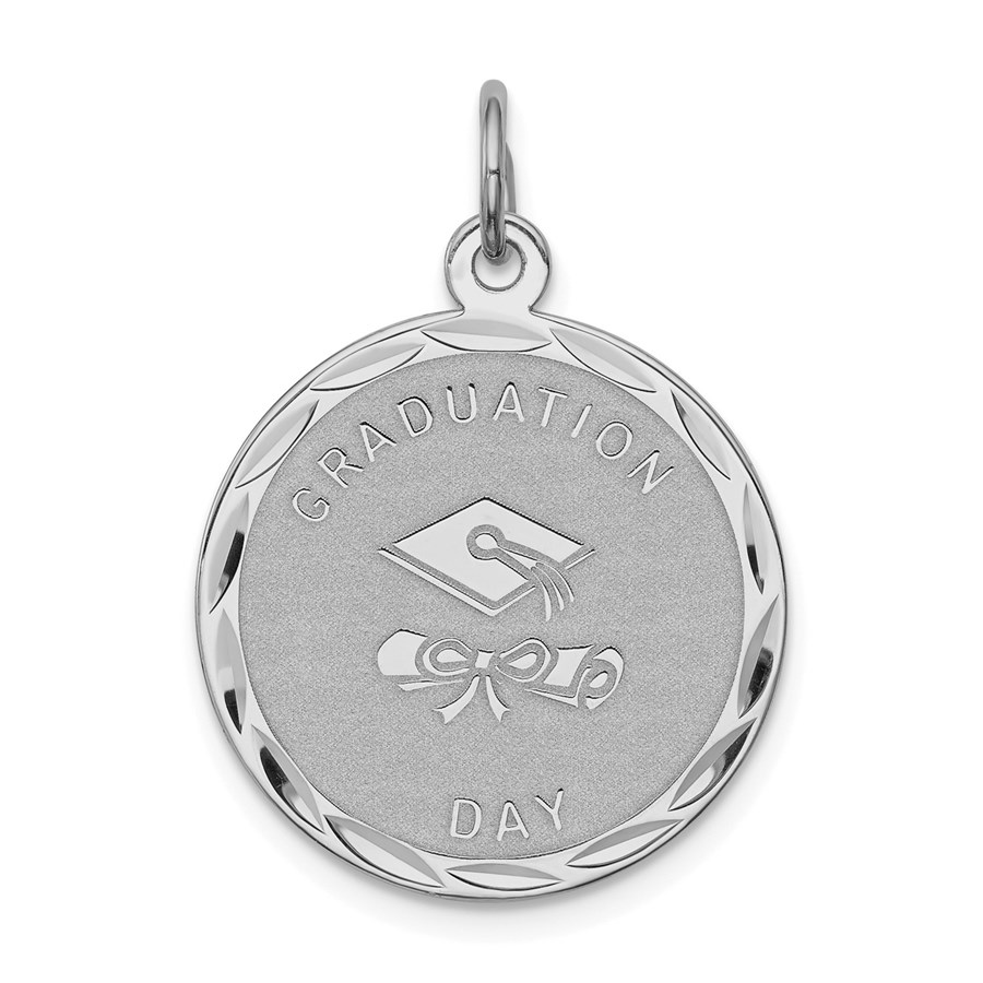 Sterling Silver Graduation Day Disc Charm -3273B