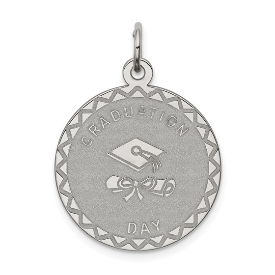 Sterling Silver Graduation Day Disc Charm -3274B