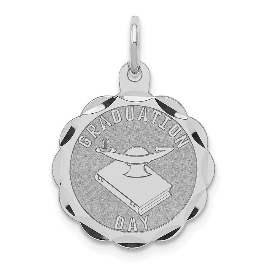 Sterling Silver Graduation Day Disc Charm -3276B