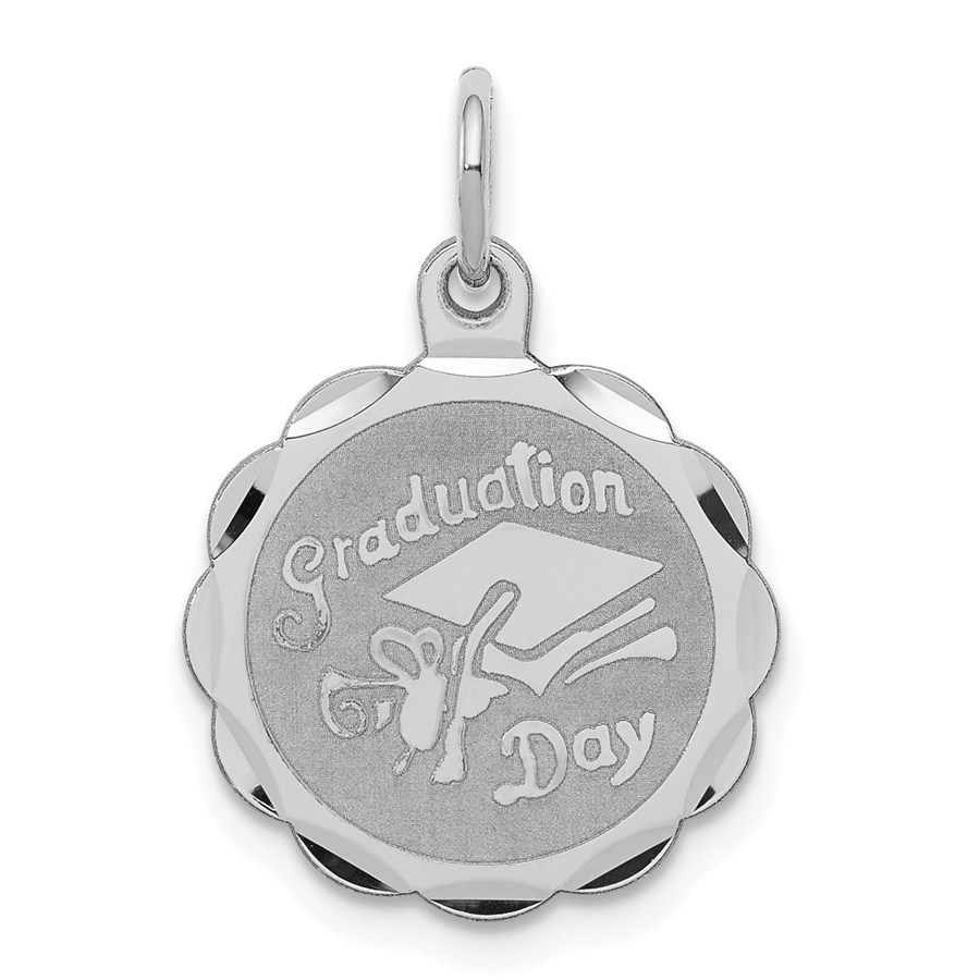 Sterling Silver Graduation Day Disc Charm -3277B