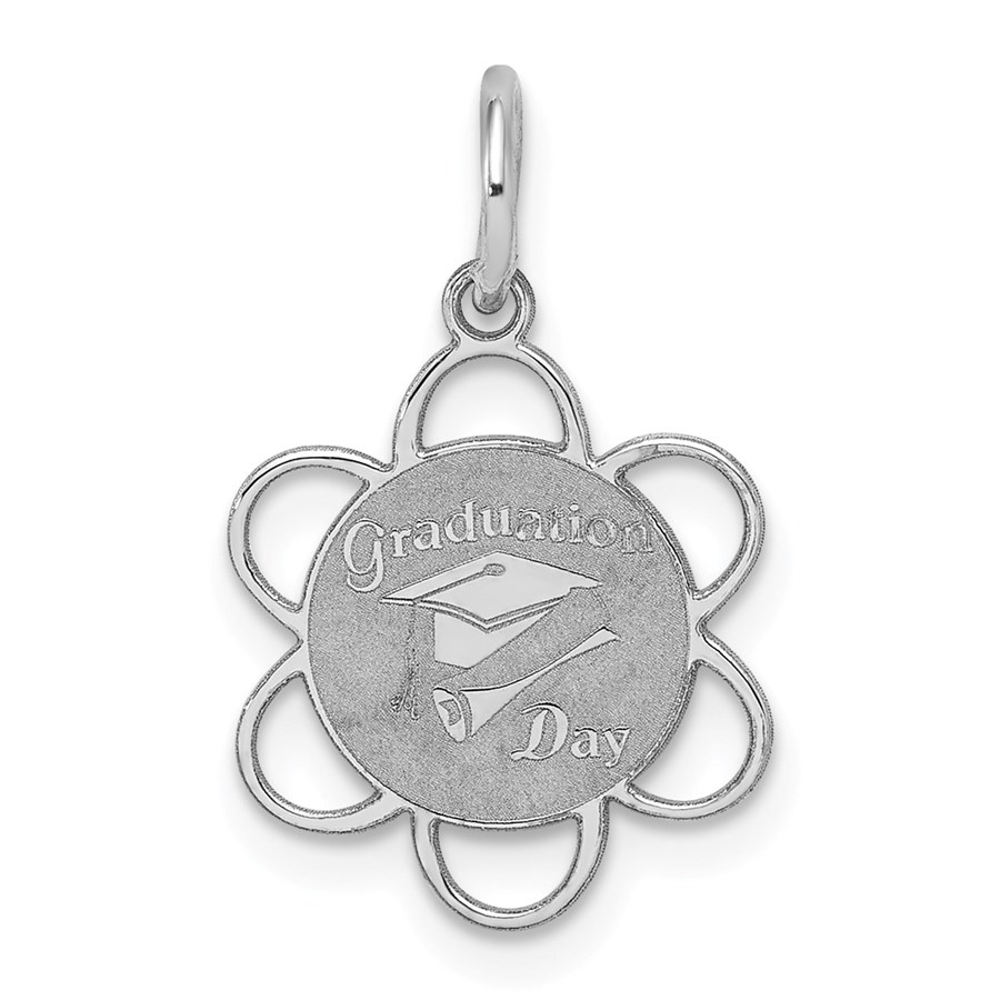 Sterling Silver Graduation Day Disc Charm -3280B