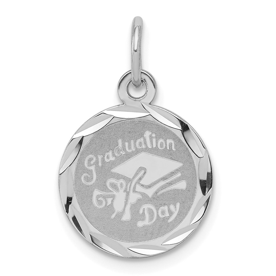 Sterling Silver Graduation Day Disc Charm -3281B