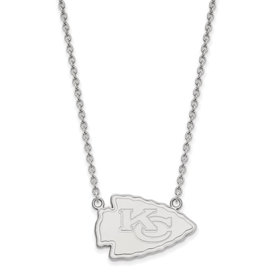 Sterling Silver Kansas City Chiefs Large Pendant Necklace