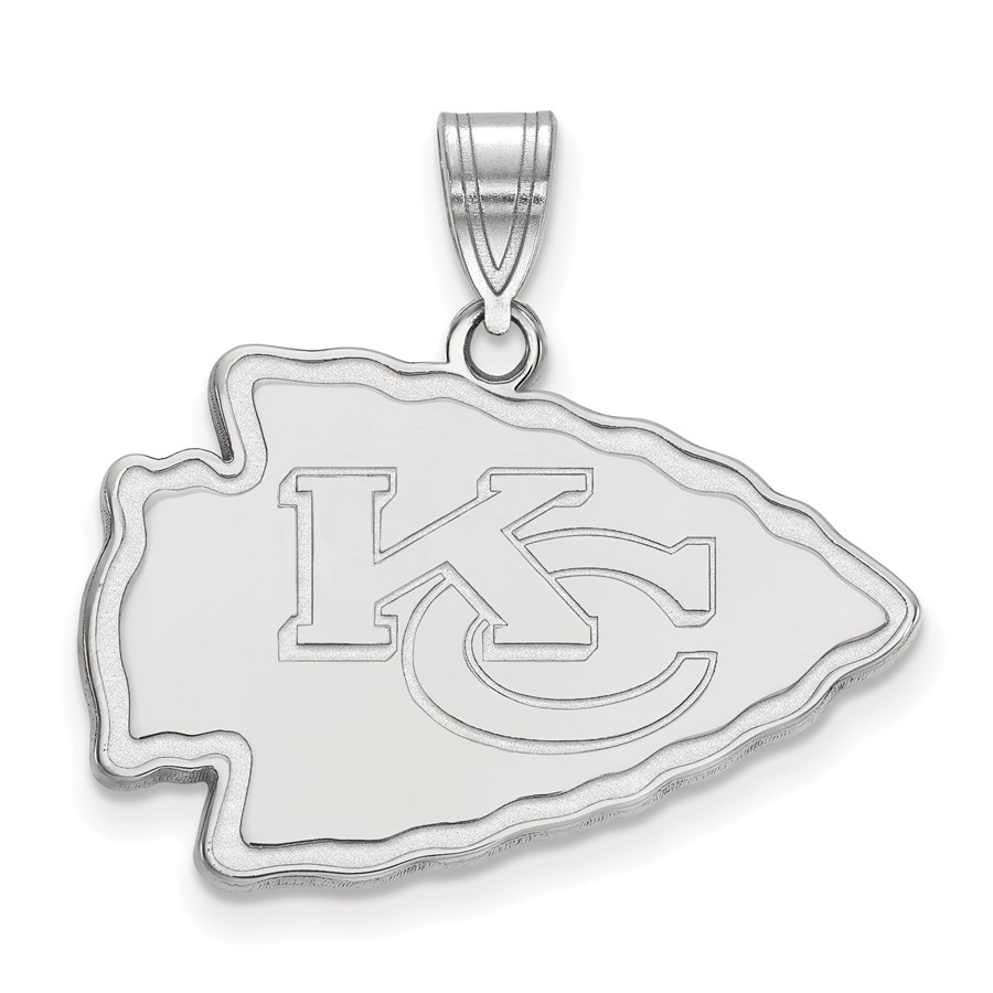 Sterling Silver Kansas City Chiefs Large Pendant