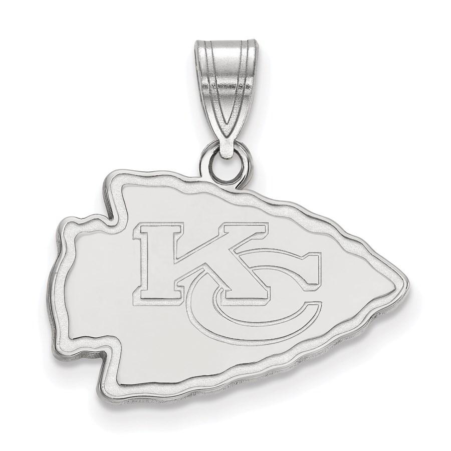 Sterling Silver Kansas City Chiefs Medium Pendant