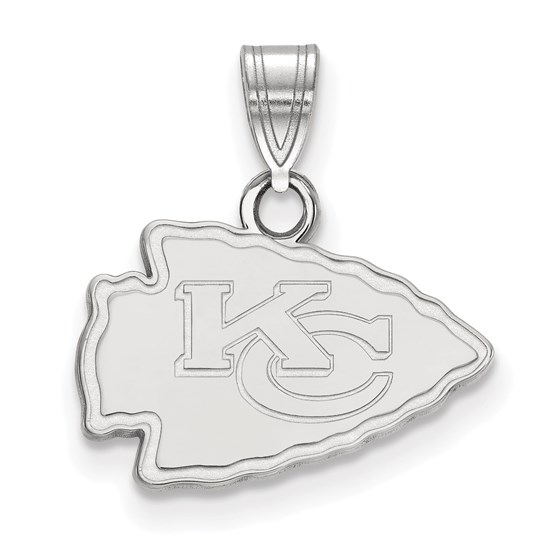 Sterling Silver Kansas City Chiefs Small Pendant