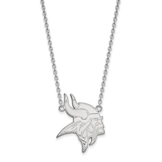 Sterling Silver Minnesota Vikings Large Pendant Necklace