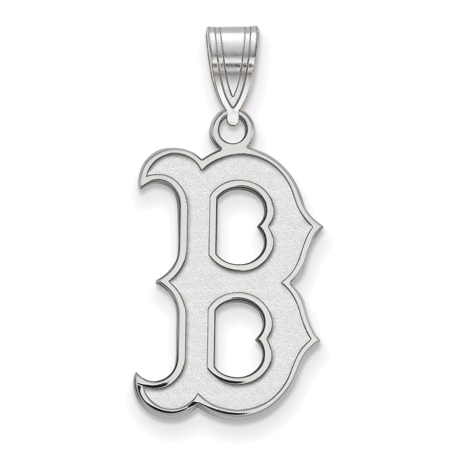 Sterling Silver MLB Boston Red Sox Large Pendant
