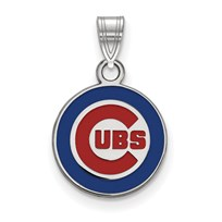 Sterling Silver MLB Chicago Cubs 18 mm Pendant