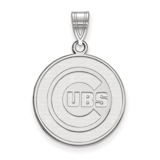 Sterling Silver MLB Chicago Cubs Large Pendant