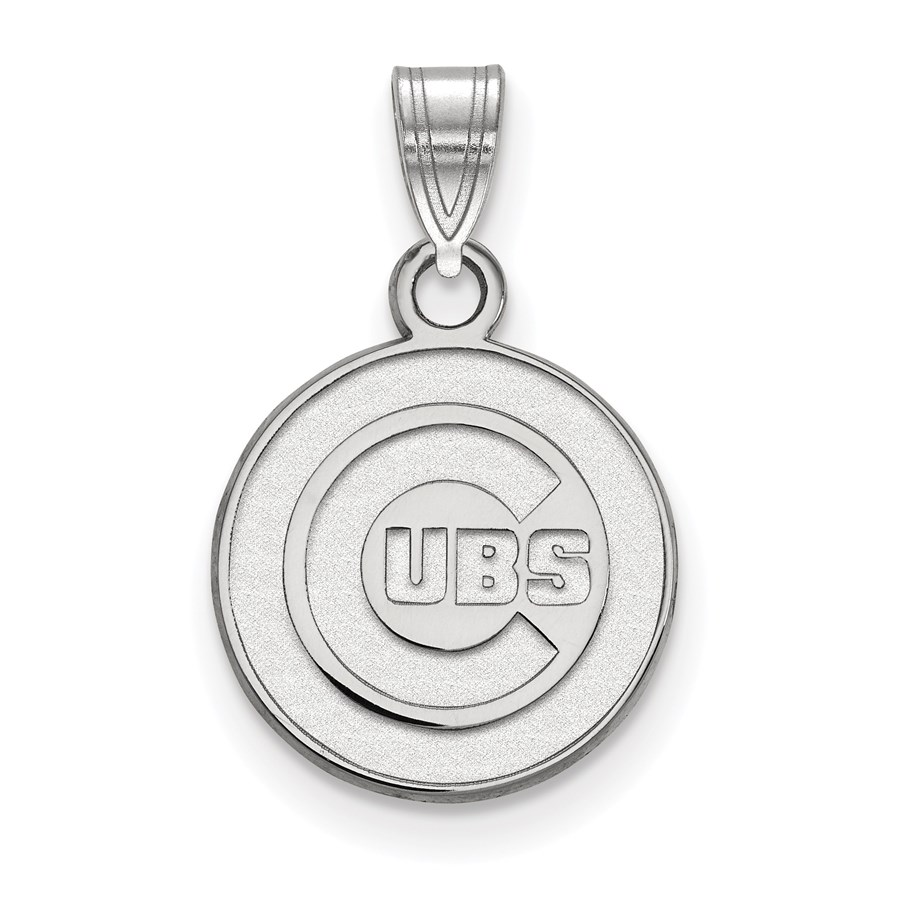 Sterling Silver MLB Chicago Cubs Small Pendant