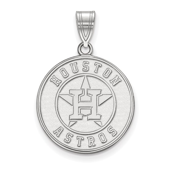 Sterling Silver MLB Houston Astros Large Pendant