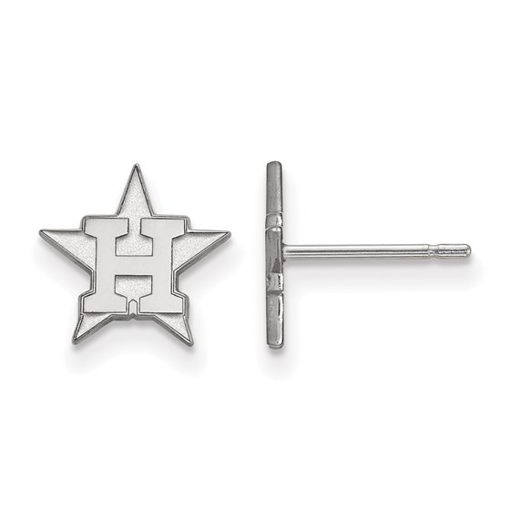 Sterling Silver MLB Houston Astros Post Earrings