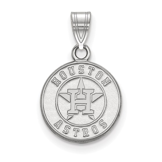Sterling Silver MLB Houston Astros Small Pendant